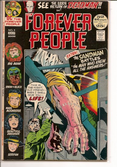 Forever People # 9, 4.5 VG +