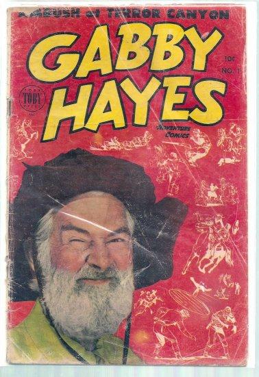 GABBY HAYES ADVENTURE COMICS # 1, 2.0 GD