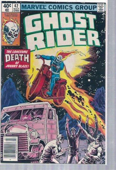 GHOST RIDER # 42, 7.5 VF -