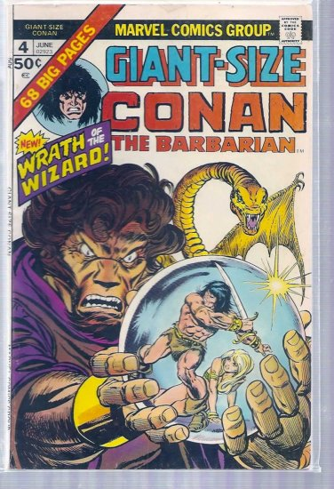 GIANT-SIZE CONAN THE BARBARIAN # 4, 4.5 VG +