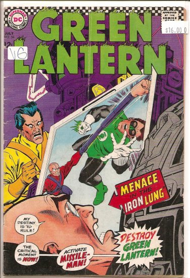 Green Lantern # 54, 4.0 VG
