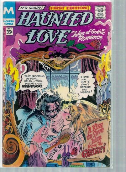 HAUNTED LOVE # 1, 4.5 VG +