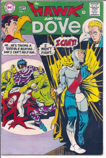 HAWK AND THE DOVE # 1, 3.0 GD/VG