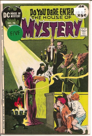 House Of Mystery # 196, 7.0 FN/VF