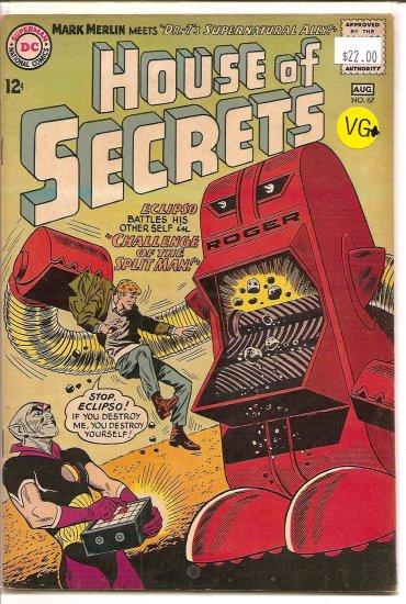 House Of Secrets # 67, 4.5 VG +