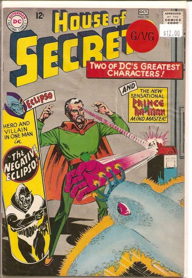 House Of Secrets # 74, 3.0 GD/VG