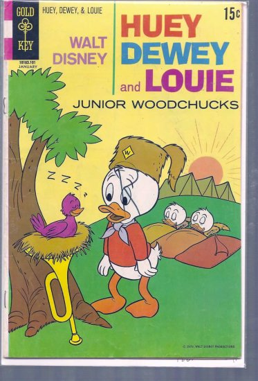 HUEY, DEWEY, AND LOUIE JUNIOR WOODCHUCKS # 8, 4.5 VG +