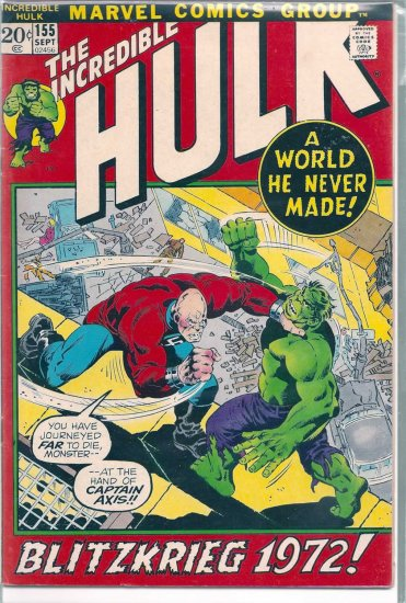 INCREDIBLE HULK # 155, 5.0 VG/FN