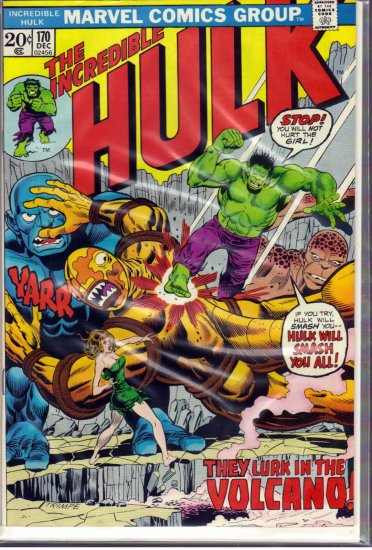 INCREDIBLE HULK # 170, 5.5 FN -