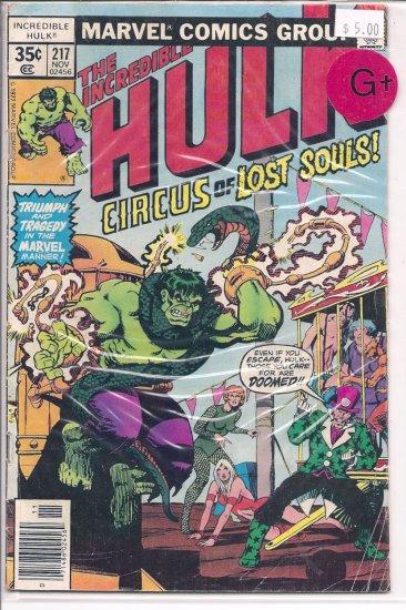 Incredible Hulk # 217, 2.5 GD +
