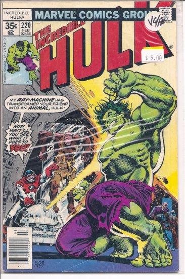 Incredible Hulk # 220, 5.0 VG/FN