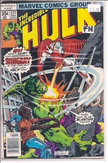 Incredible Hulk # 221, 6.0 FN