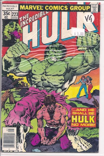 Incredible Hulk # 223, 4.0 VG