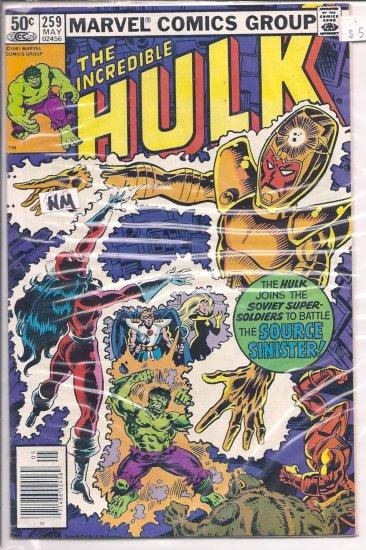 Incredible Hulk # 259, 9.4 NM