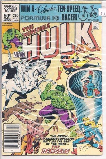 Incredible Hulk # 265, 9.0 VF/NM