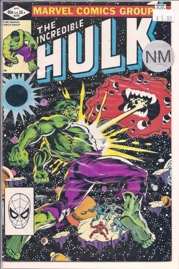 Incredible Hulk # 270, 9.4 NM