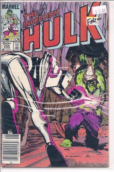 Incredible Hulk # 296, 6.0 FN
