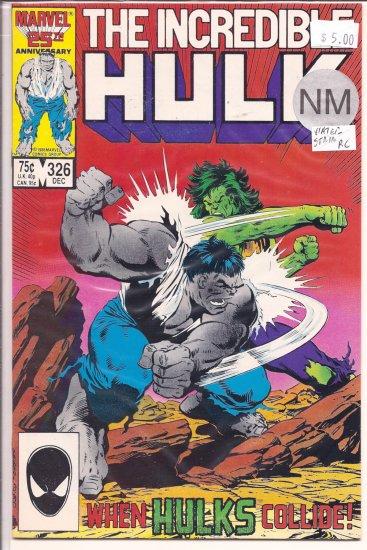 Incredible Hulk # 326, 9.4 NM