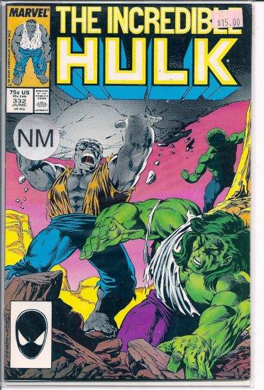 Incredible Hulk # 332, 9.2 NM -