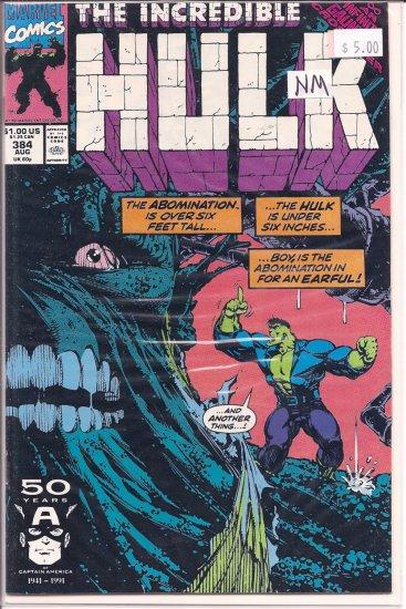 Incredible Hulk # 384, 9.4 NM