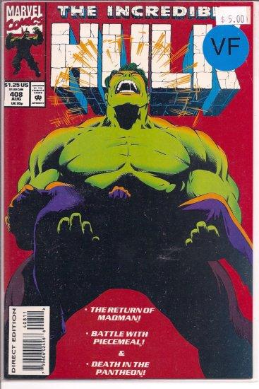 Incredible Hulk # 408, 8.0 VF
