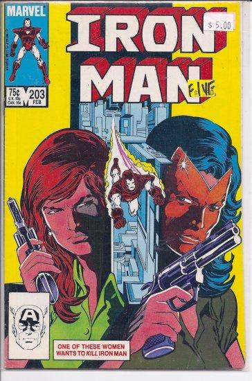 Iron Man # 203, 7.0 FN/VF