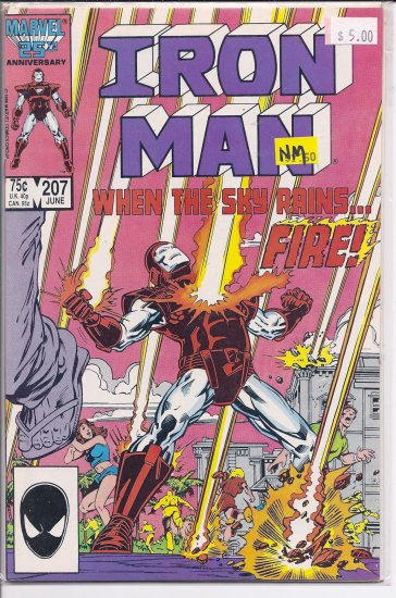 Iron Man # 207, 9.4 NM