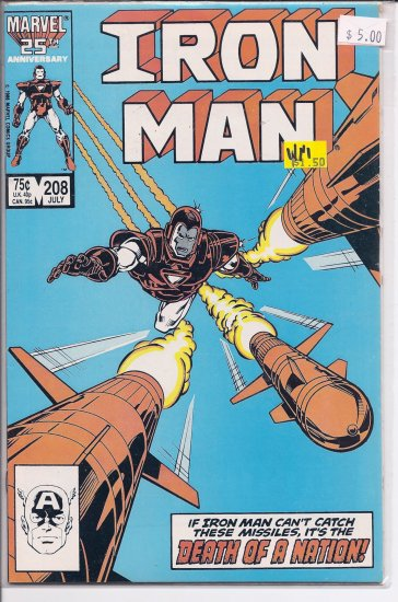 Iron Man # 208, 9.4 NM