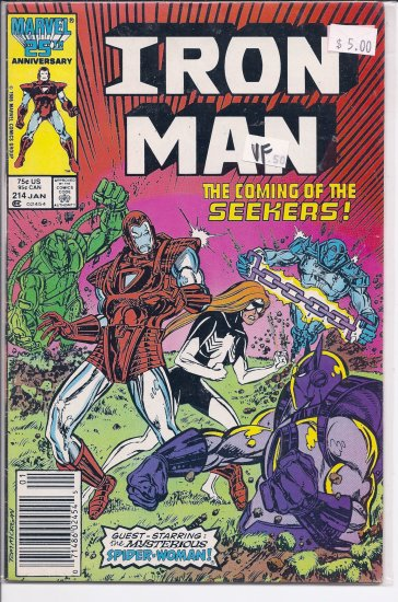 Iron Man # 214, 8.0 VF