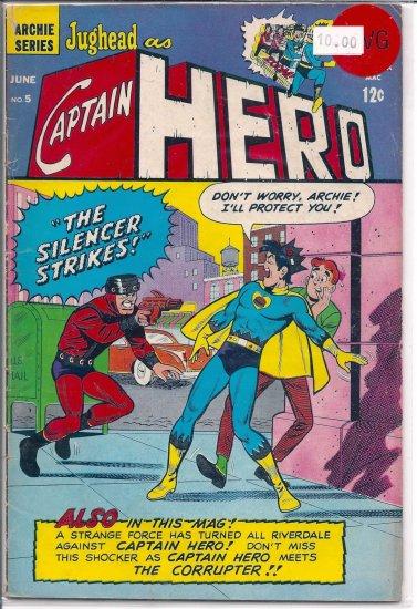 Jughead As Captain Hero # 5, 4.0 VG