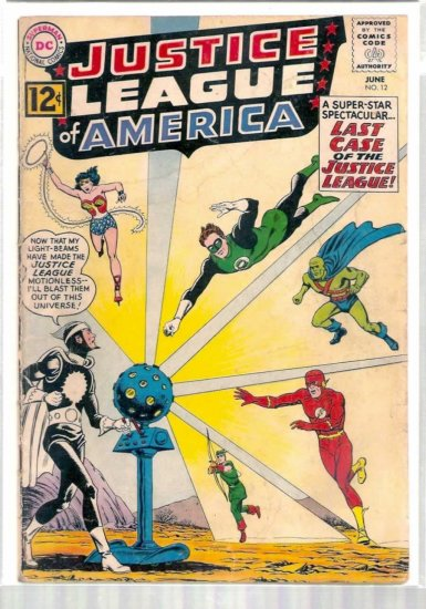 JUSTICE LEAGUE OF AMERICA # 12, 2.5 GD +