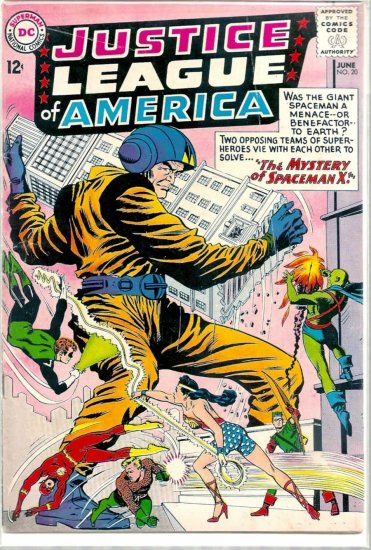 JUSTICE LEAGUE OF AMERICA # 20, 4.0 VG
