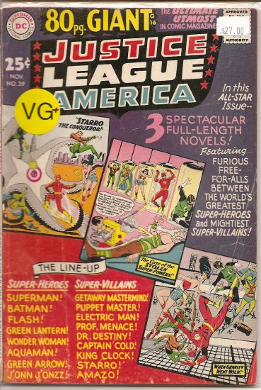 Justice League of America # 39, 4.5 VG +