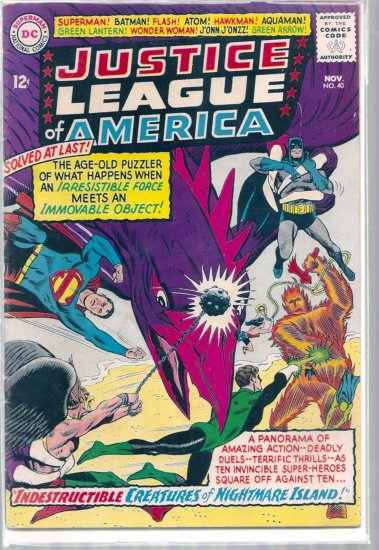 JUSTICE LEAGUE OF AMERICA # 40, 4.0 VG