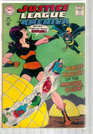 JUSTICE LEAGUE OF AMERICA # 60, 3.0 GD/VG