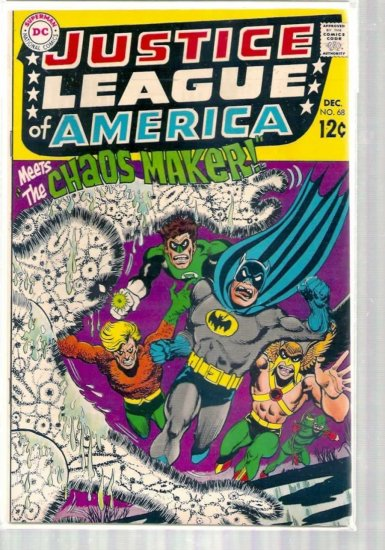JUSTICE LEAGUE OF AMERICA # 68, 5.0 VG/FN