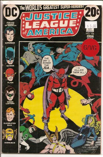 Justice League Of America # 106, 3.0 GD/VG