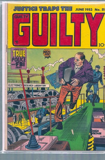 JUSTICE TRAPS THE GUILTY # 51, 3.5 VG -