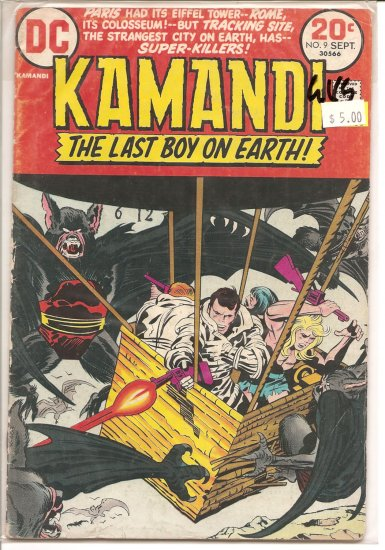 Kamandi, The Last Boy On Earth # 9, 3.0 GD/VG