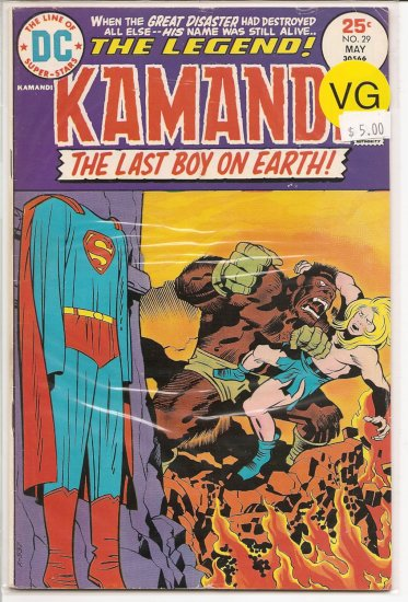 Kamandi, The Last Boy On Earth # 29, 4.0 VG
