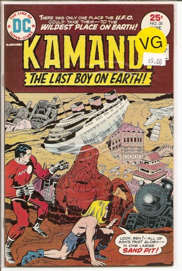 Kamandi, The Last Boy On Earth # 30, 4.0 VG