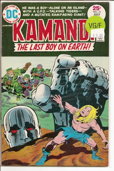 Kamandi, The Last Boy On Earth # 31, 5.0 VG/FN