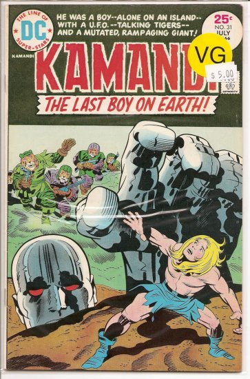 Kamandi, The Last Boy On Earth # 31, 4.0 VG