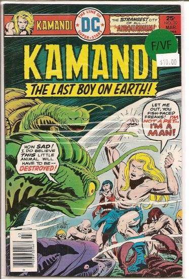 Kamandi, The Last Boy On Earth # 39, 7.0 FN/VF