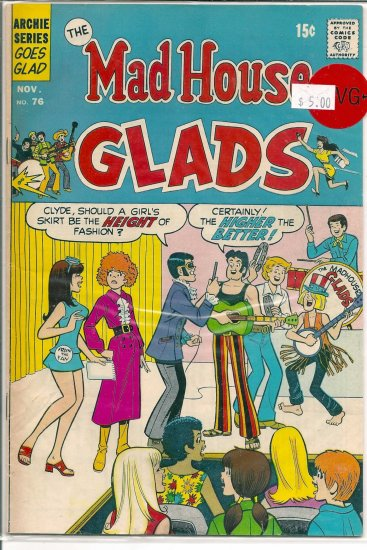 Madhouse Glads # 76, 4.5 VG +
