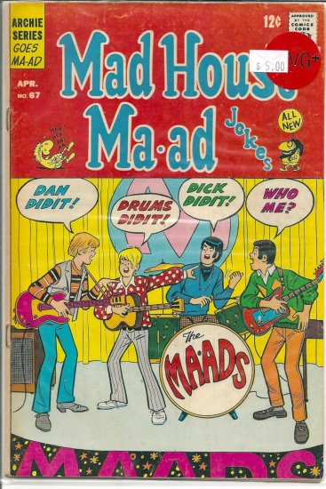 Madhouse Ma-ad # 67, 4.5 VG +