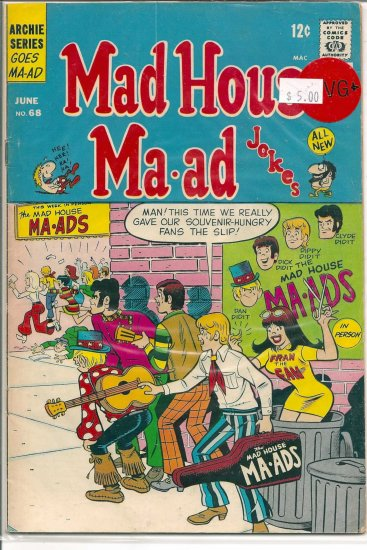 Madhouse Ma-ad # 68, 4.5 VG +