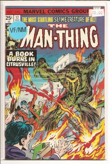 Man-Thing # 17, 9.0 VF/NM