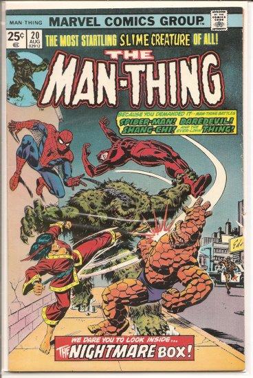 Man-Thing # 20, 5.5 FN -