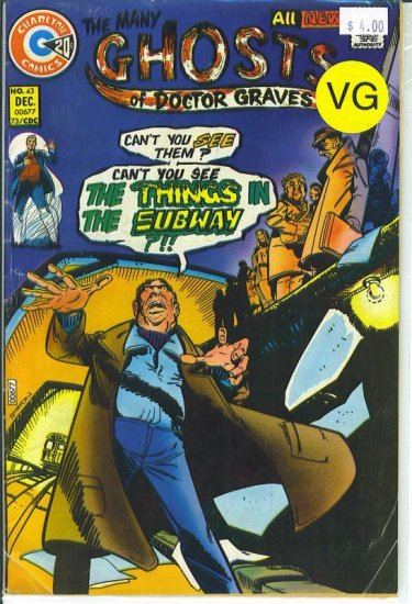 Many Ghosts Of Doctor Graves # 43, 4.0 VG